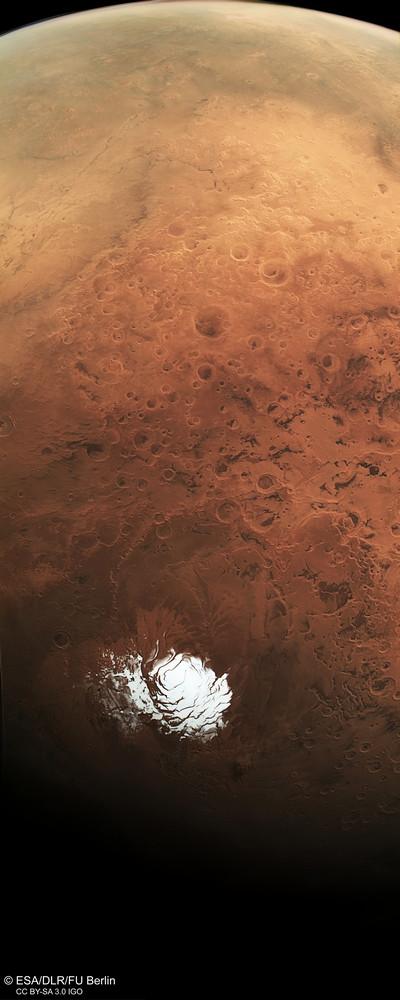 Южный полюс Марса, снимок МарсЭкспресс